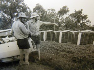 Hugh and John Rogers, Kingaroy circa 1980