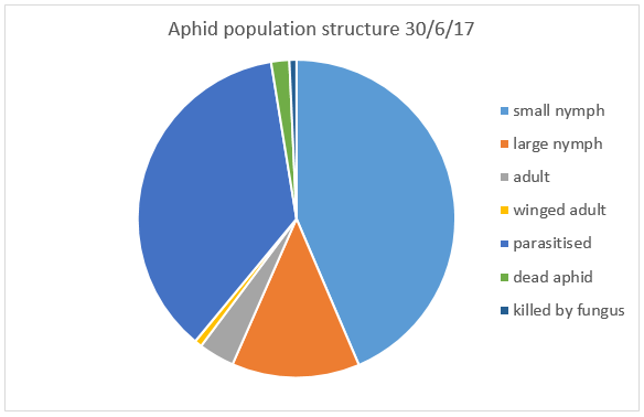 pie chart of population structure including live versus dead